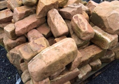 Tumbled Sandstone for Retaining Wall